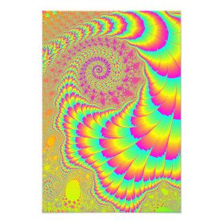 Arte espiral infinito psicodélico brillante del cojinete