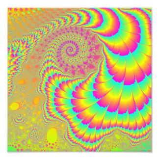 Arte espiral infinito psicodélico brillante del fotografías