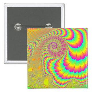 Arte espiral infinito psicodélico brillante del fr