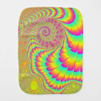 Arte espiral infinito psicodélico brillante del fr paños para bebé