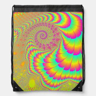 Arte espiral infinito psicodélico brillante del mochilas