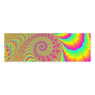 Arte espiral infinito psicodélico brillante del tarjetas de visita mini