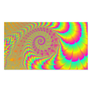 Arte espiral infinito psicodélico brillante del tarjetas de visita