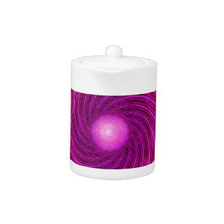 Arte espiral negro rosado del caleidoscopio de la
