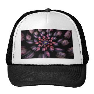 Arte espiral púrpura y negro del fractal de la flo gorro