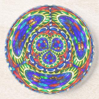 Arte espiritual azul cósmico del fantasma de Navin Posavasos De Arenisca