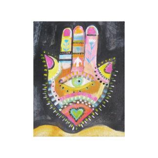 Arte espiritual de DIOS de la pintura de Hamsa Lienzo Envuelto Para Galerías