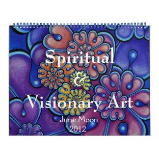 Arte espiritual y visionario calendario de pared
