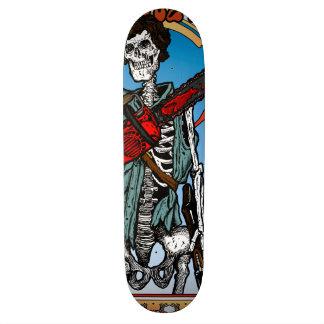 Arte esquelético de la cubierta de la motosierra tablas de skate
