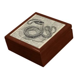 Arte esquelético de la página del diccionario del joyero cuadrado grande