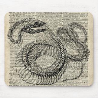 Arte esquelético de la página del diccionario del mouse pads