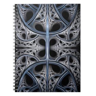 Arte esquelético del fractal de Pasillo Cuadernos