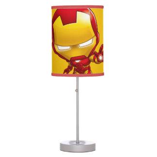 Arte estilizado del hombre del hierro lámpara de escritorio