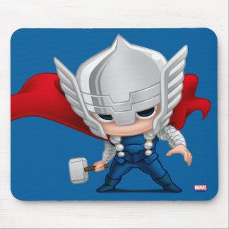 Arte estilizado del Thor Alfombrillas De Raton