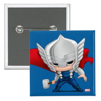 Arte estilizado del Thor Pin Cuadrado
