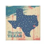 Arte estrellado de Tejas - Houston Impresiones En Lienzo Estiradas