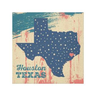 Arte estrellado de Tejas - Houston Impresiones En Lona
