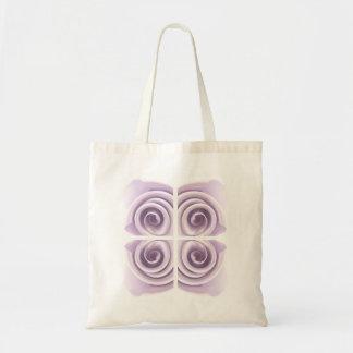 Arte etéreo de la lila subió bolsa tela barata