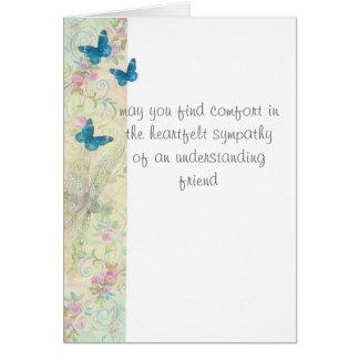 arte etéreo del mensaje de encargo sentido de la tarjeta de felicitación