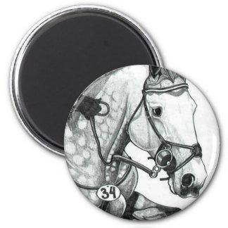 Arte EVENTING EXTREMO del caballo Imán Redondo 5 Cm