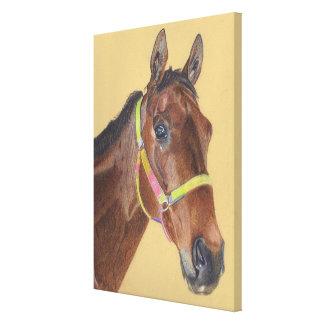 Arte excelente de la lona del caballo impresiones de lienzo
