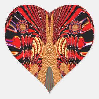 Arte exótico de la fantasía de Digitaces de la Calcomanía De Corazón