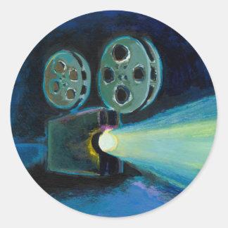 Arte expresivo colorido de la pintura del pegatinas redondas