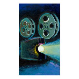 Arte expresivo colorido del proyector de película  tarjeta de visita