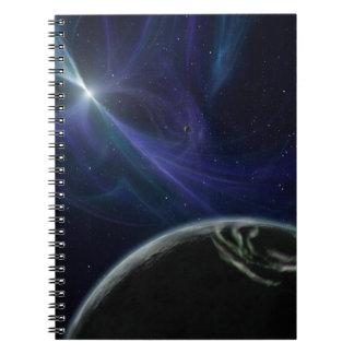 Arte extranjero del espacio del planeta del pulsar libretas