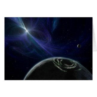 Arte extranjero del espacio del planeta del pulsar tarjeta de felicitación