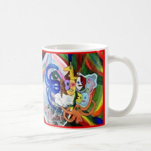 Arte extraño taza de café