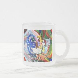 Arte extraño taza de café esmerilada