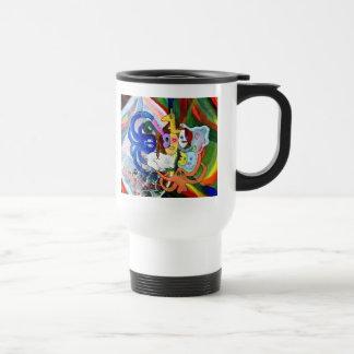 Arte extraño taza de viaje de acero inoxidable