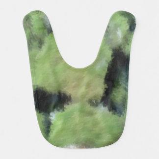Arte extraño verde babero para bebé