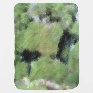 Arte extraño verde mantas de bebé