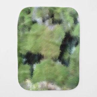 Arte extraño verde paños para bebé
