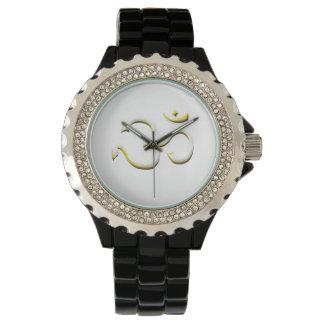 Arte famoso de la moda del símbolo de OM en reloj