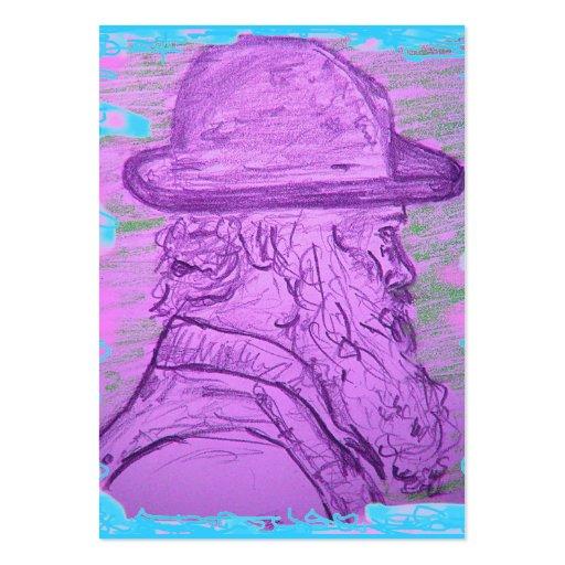 arte famoso del pintor tarjeta de visita