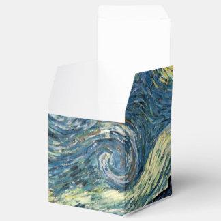 Arte famoso, noche estrellada de Vincent van Gogh. Cajas Para Regalos De Boda
