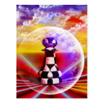 Arte fantástico del ajedrez de las pinturas postal