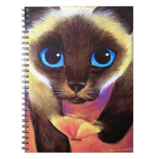 Arte felino de la pintura del gato del cuaderno