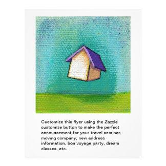 """Arte feliz colorido de la diversión casera de la c folleto 8.5"""" x 11"""""""