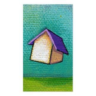 Arte feliz colorido de la diversión casera de la c plantilla de tarjeta de visita