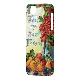 Arte feliz de la cosecha de la caída del vintage d iPhone 5 protector