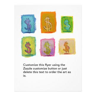 Arte feliz de la diversión de la economía de la ab tarjetas publicitarias