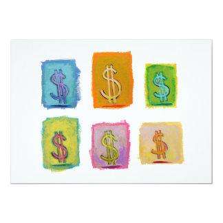 """Arte feliz de la diversión de la economía de la invitación 5"""" x 7"""""""