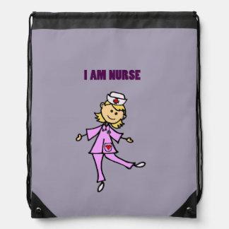 Arte feliz de la enfermera del baile mochilas
