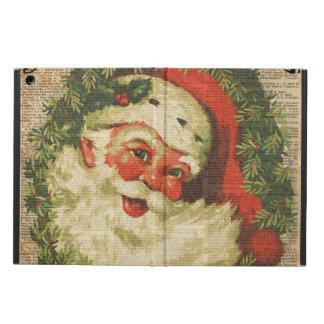 Arte feliz de los saludos del navidad de Santa del