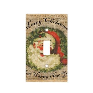 Arte feliz de los saludos del navidad de Santa del Tapas Para Interruptores
