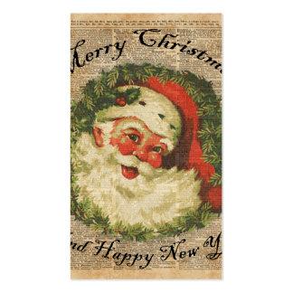 Arte feliz de los saludos del navidad de Santa del Tarjetas De Visita